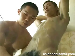Japanese sweet gay shower