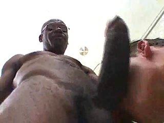Huge Black Cock Sucking Condom Drilling