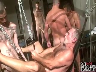 Hunks furious group drilling