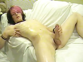 Emo twink solo wanking & playing with his ass hole