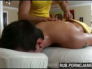 Oiled massage for hunk