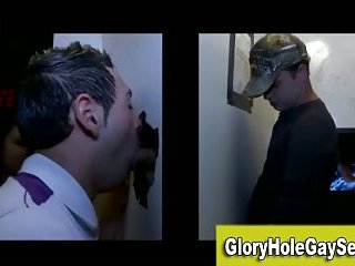 Straight guy gets sucked at a gay gloryhole