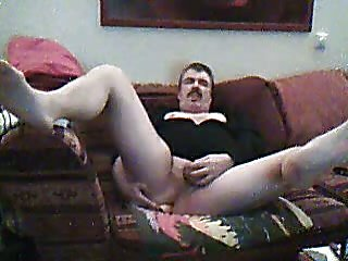 Mature Amateur Dildoing Man Pussy At Home