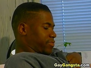 Gay anal fucked hard in his office