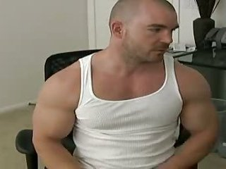 Beefy college guys toying dick