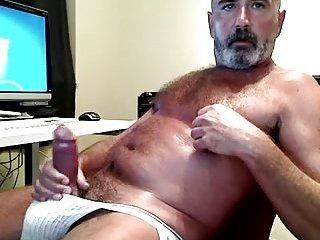 Mature Bear Solo Amateur Jerking Off