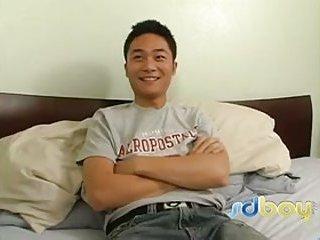 Asian Guy Gets Stuffed & Jizzed