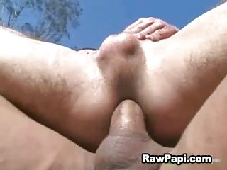 Latinos anal relaxation outdoors