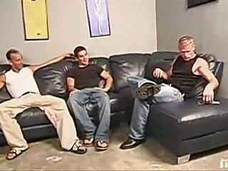 Hot Condom Ass Fuck In Threesome