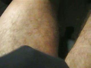Amateur hairy legs & masturbation video