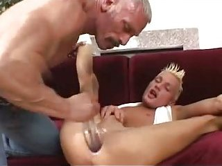 Fervent fingering of white ass hole pounding