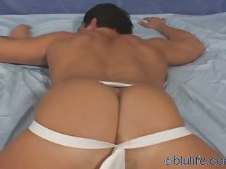 Hunk shows his sexual bum