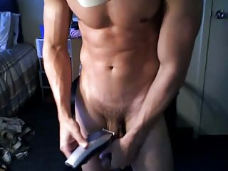 Cool guy in the cap jacking off