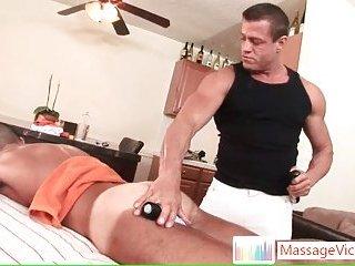 John Marcus getting a massage