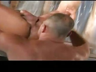 Slobbery sucking for mature bf