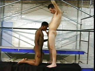 Interracial Couple Frigging Till Cumshot