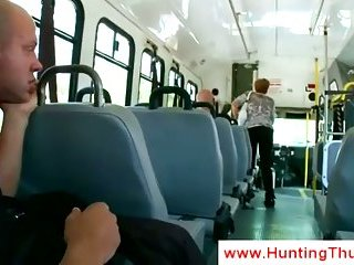 White guy sucks black cock in the prison bus