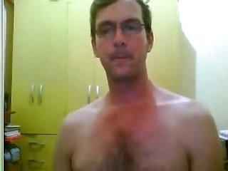 Amateur dude jerking his dong