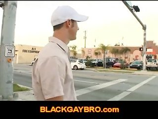 Gay thug hunter goes outside looking for a black ass