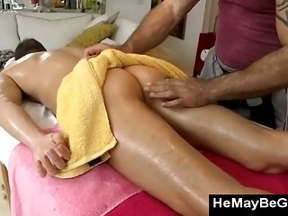 Gay bear gets off massaging straight guys naked body