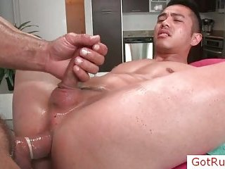 Great asian gay dude gets the fuck of his life