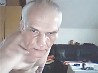 Hunky mature  jerking off