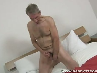 Sexy guy beating off getting jerked