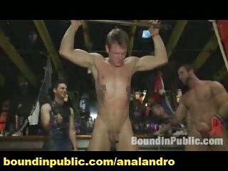 Public Gay Gangbang and BDSM Humiliation