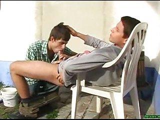 Teens Sucking Outdoor