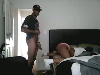 Amateur ebony anal copulation