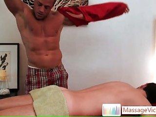 Nice skinny dude gets gay massage