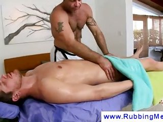 Rimjob is part of an erotic gay massage
