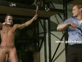 Gay hunks tied in extreme bdsm sex