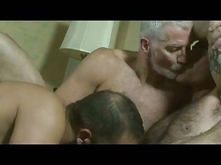 Horny trio burning sex on a bed