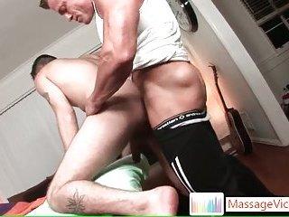 Tattooed hunk Jason Crew gets anus massaged