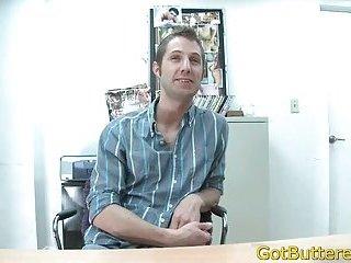 Guy strips in office