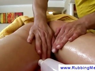 Massage full of second intentions touching cock