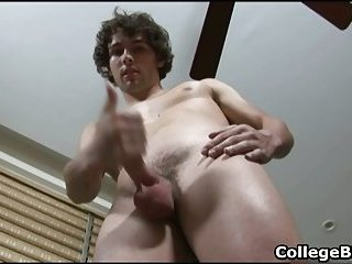 Glenn Philips wanking his fine college cock