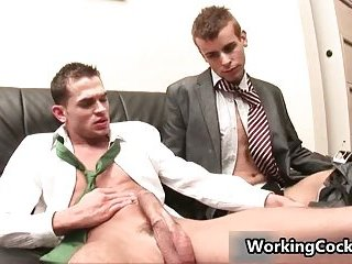 Jonathan Cole sucking in office