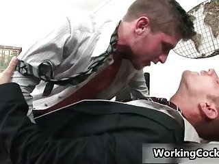 Shane Frost fucking and sucking in office