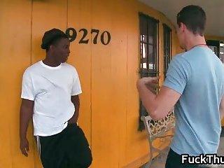 Black thug gets paid for blowjob