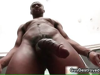 Justin gets ass fucked by black cock