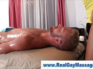 Gay oil  massage as straight guy gets turned