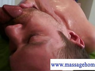 Deep relaxing cock massage by the masseur
