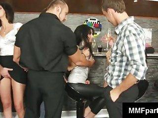 Drinking reunion turns into fuck fest