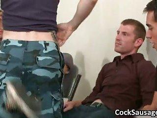 Huge gay cock sucking orgy