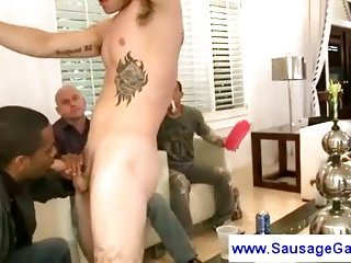 Two awesome sexy guys striptease