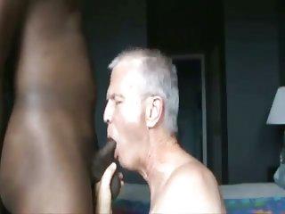 Granpa barebacks thug Ebony houseboy
