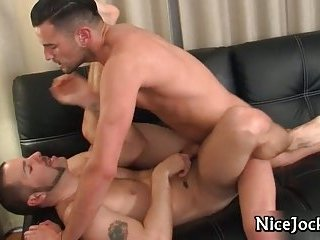 Hot and sexy jocks fucking tight ass and sucking firm dick