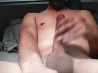 Straight hot guy wanking his 10in cock on cam